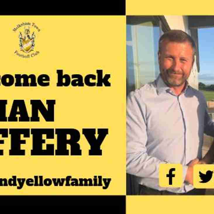 Welcome back Ian Jeffery!
