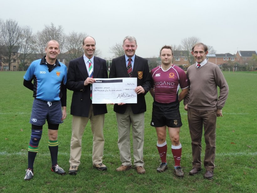 Ponteland Rugby Clubs Presentation To The Wooden Spoon Society