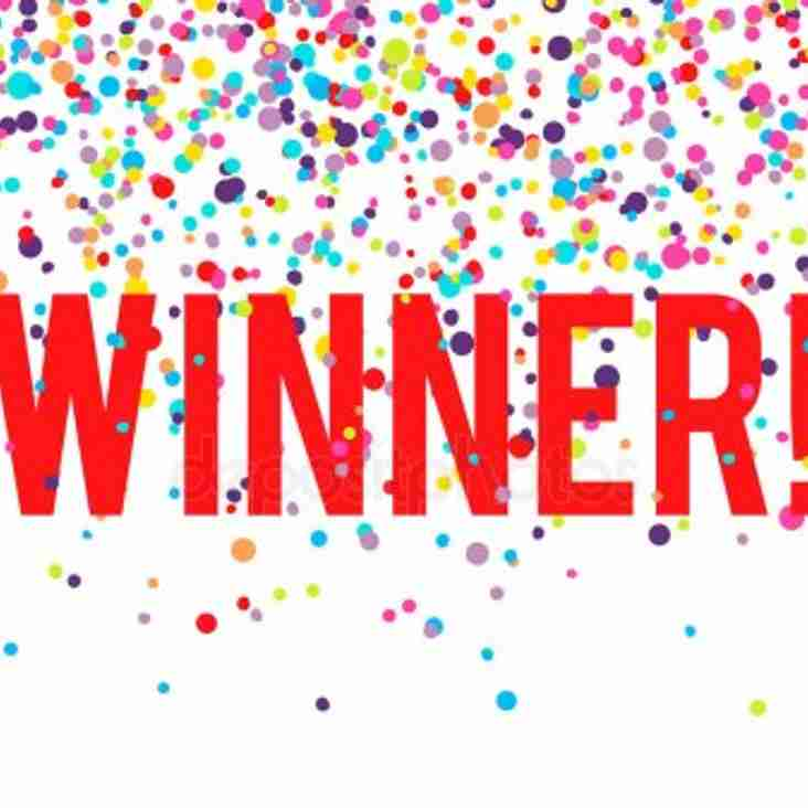 THE WINNERS OF THE TRAFFORD MV DRAW FOR JULY ARE.................