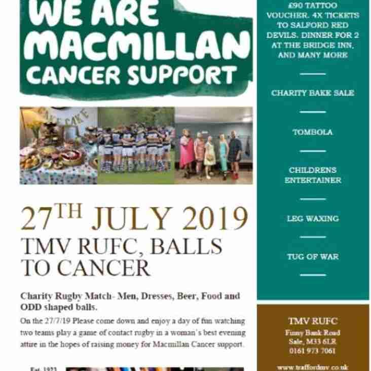 MacMillan Family Fun Day at Trafford MV Sports Club - Sat July 27th
