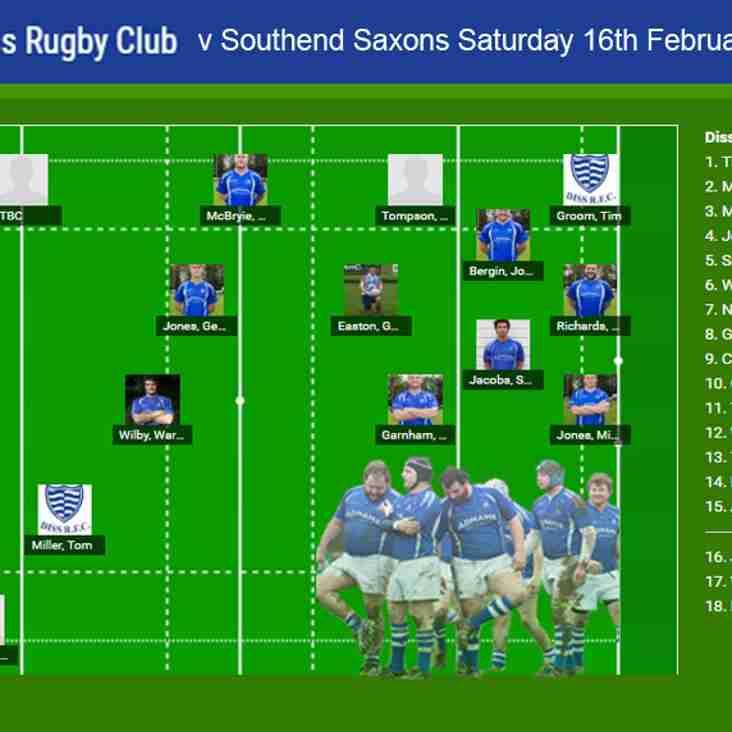 Diss RFC v Southend Saxons RFC