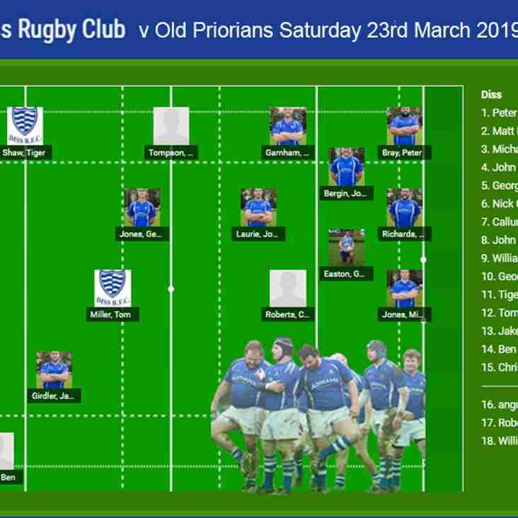 Diss RFC v Old Priorians RFC