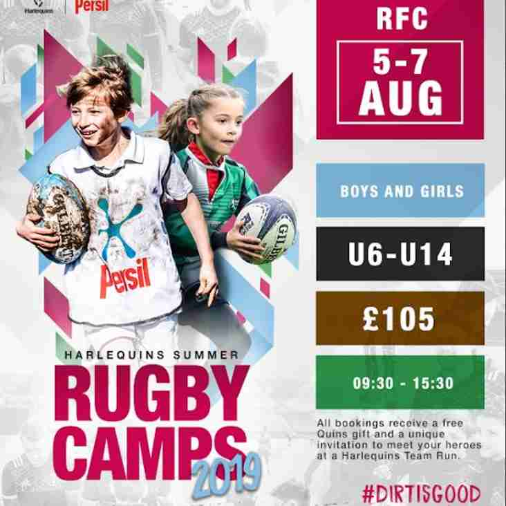 Quins Summer Rugby Camp 2019