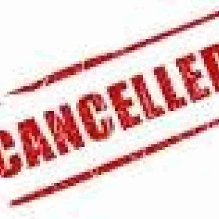 ERFC 1st XV Home Game Cancelled