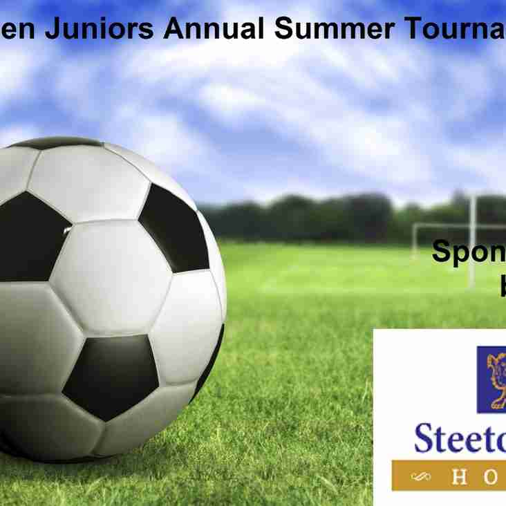 SILSDEN AFC JUNIORS ANNUAL 6 A SIDE TOURNAMENT 11th & 12th JUNE 2016