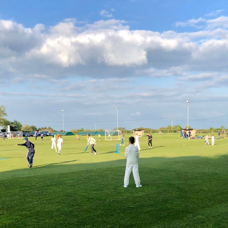 Junior Cricket - outside practice evenings underway