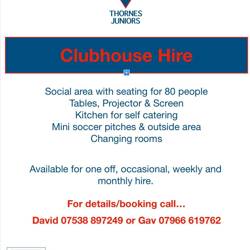 Clubhouse Hire