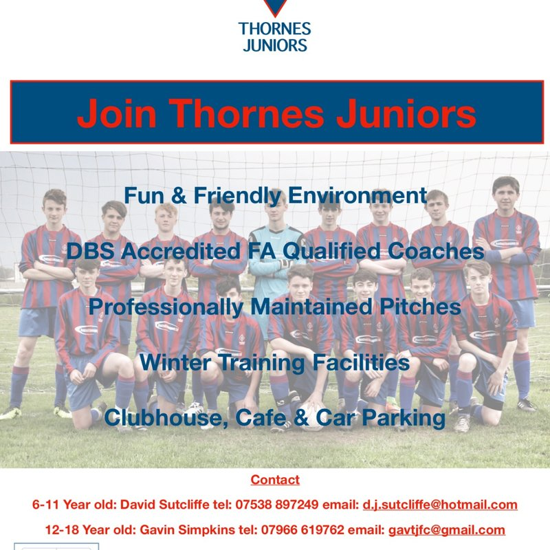 Join Thornes Juniors