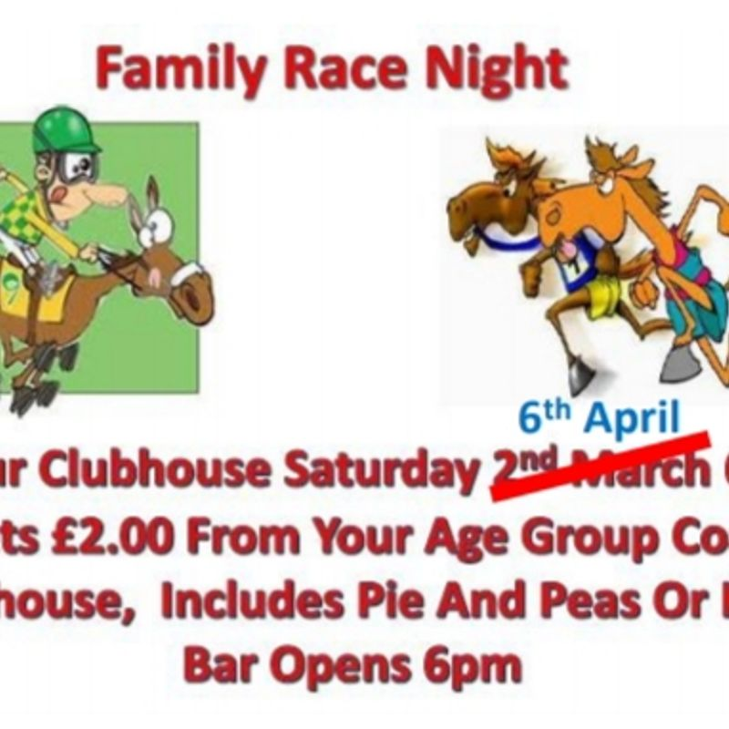 Race Night Moved