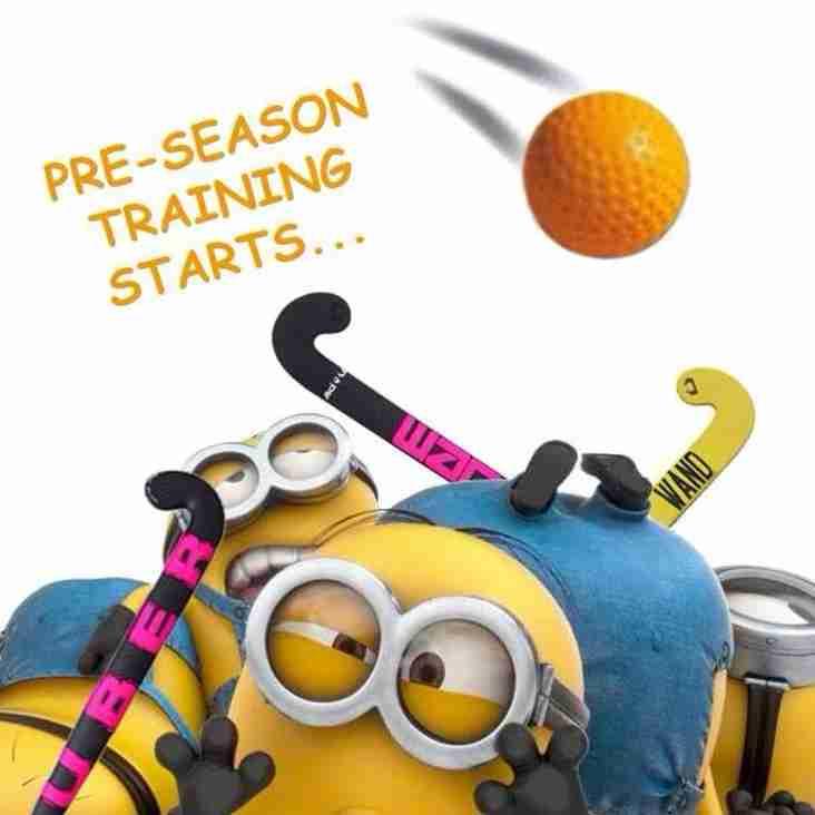Pre-Season Training Starts!
