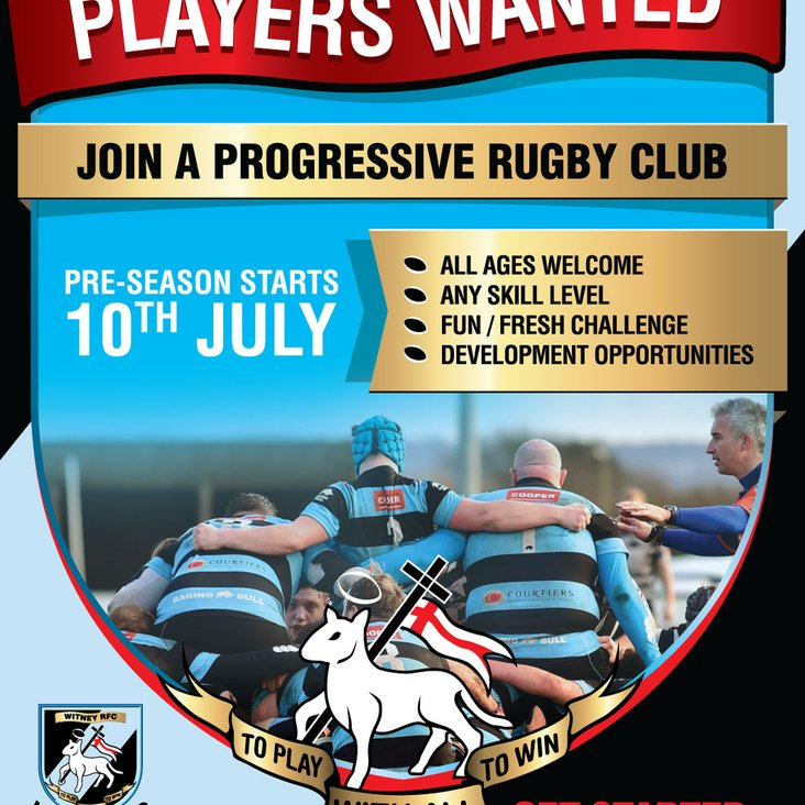 Witney looking for new players<