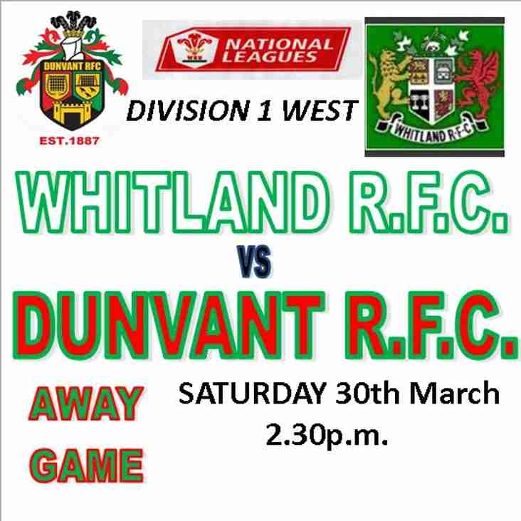 WHITLAND TAKE THE SPOILS WITH 2nd HALF FLURRY  (30th Mar)