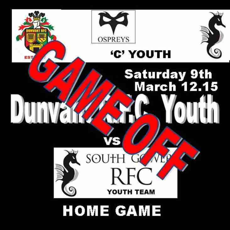 TODAY'S YOUTH GAME IS OFF