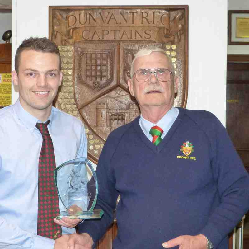 1stXV Special Achievement: Adam Williams-Parry-1000 points & 100 tries for 1stXV