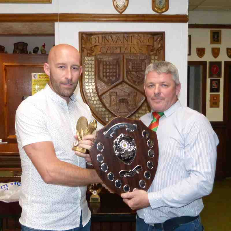 1stXV-Clubman of the Year: John Watkins-presented to son Paul Watkins