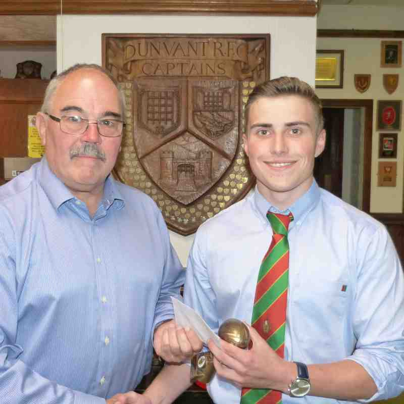 1stXV-Best Newcomer: Joe Packer