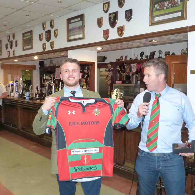 Shirt presentation to Michael Mizzi