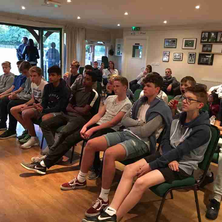 U14 Team 2018 Awards Night