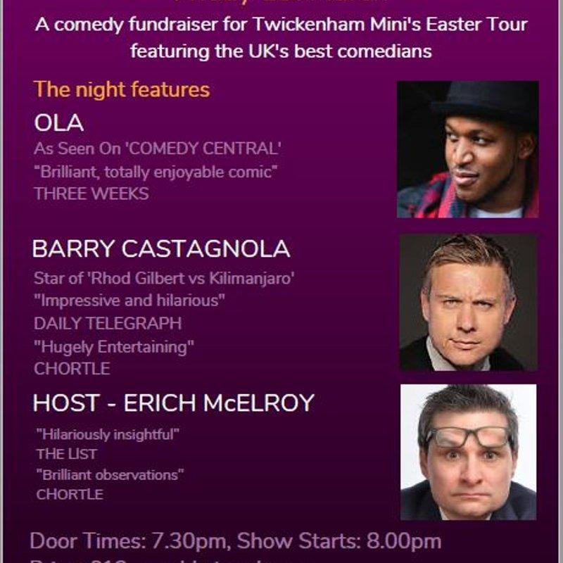 Comedy Night @ TRFC - Friday 1 March 2019