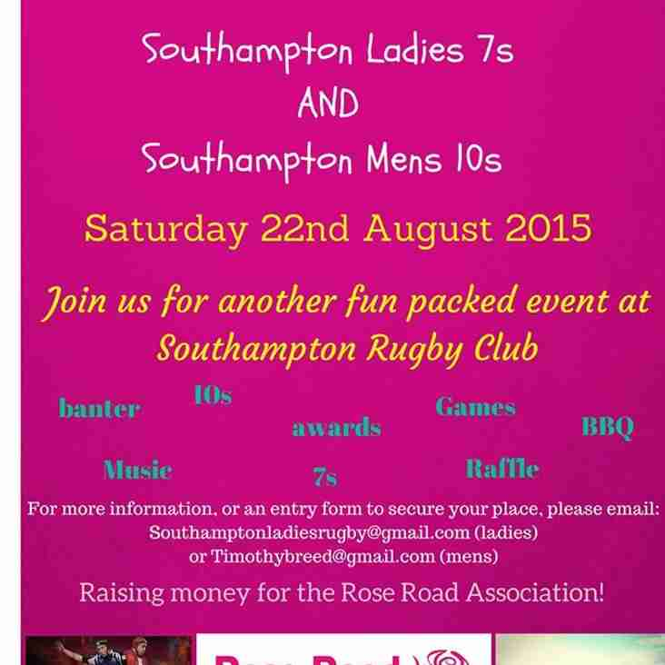 Charity Ladies 7s and Mens 10s - 22nd August