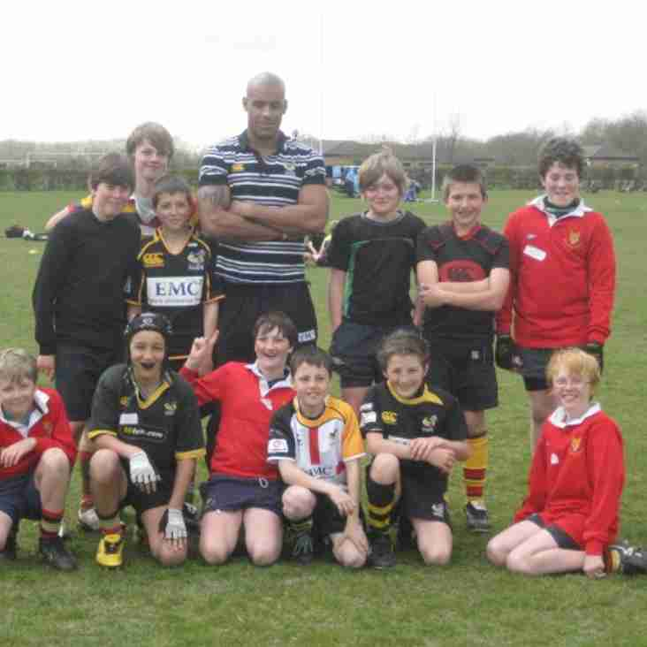 U12's Wasps CoachClass Players meet Tom Varndell