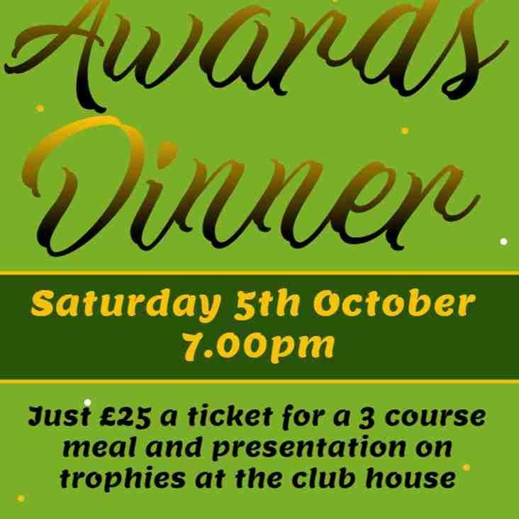 Annual Awards Dinner announced