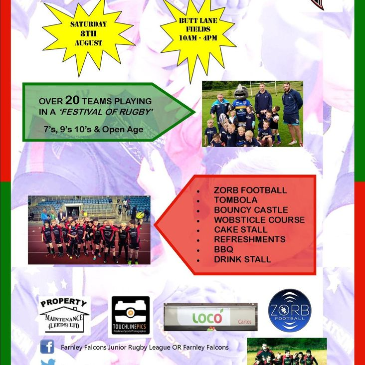 Falcons Funday 8th August <