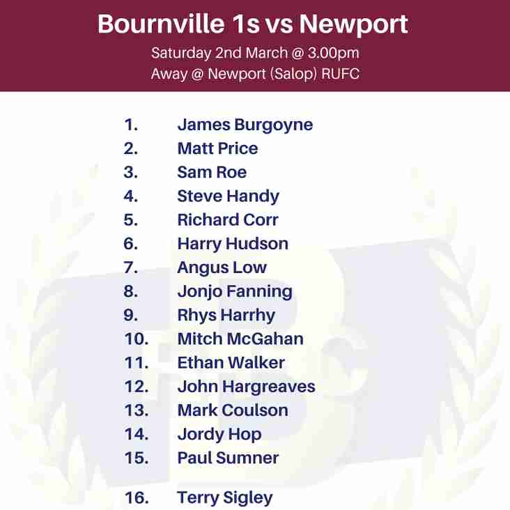 Bournville 1s - Team Selection