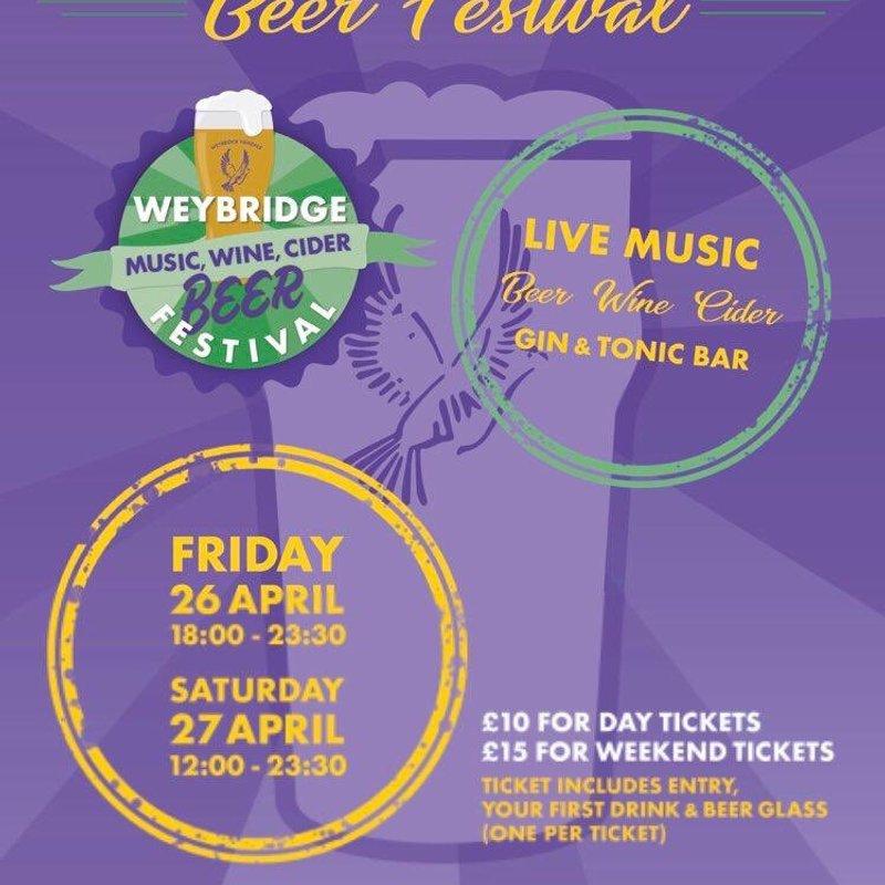 Weybridge Beer Festival This Weekend!