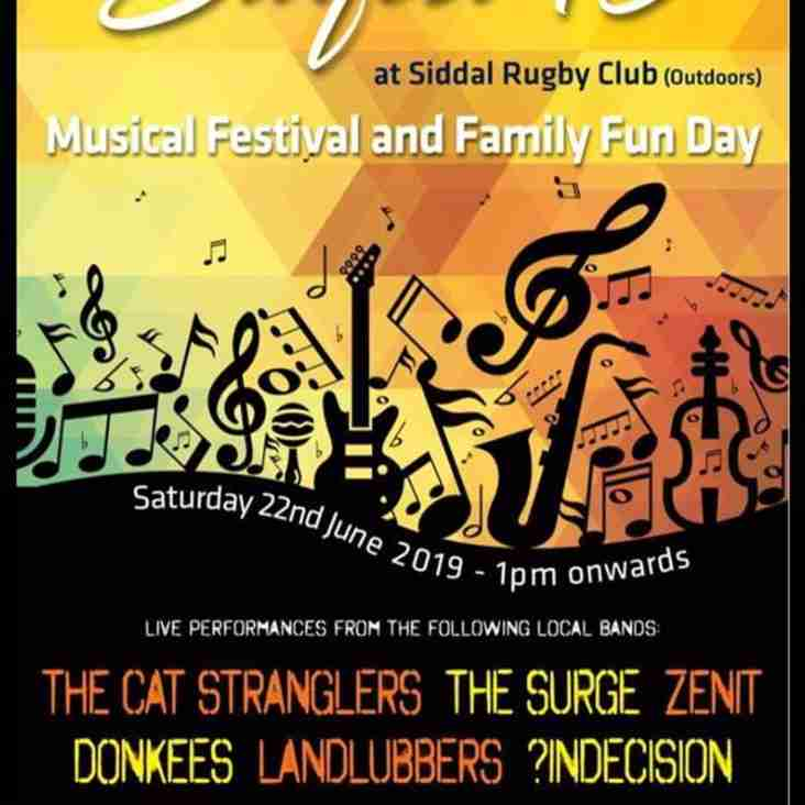 Sidfest is back - Saturday 22 June from 1.00pm