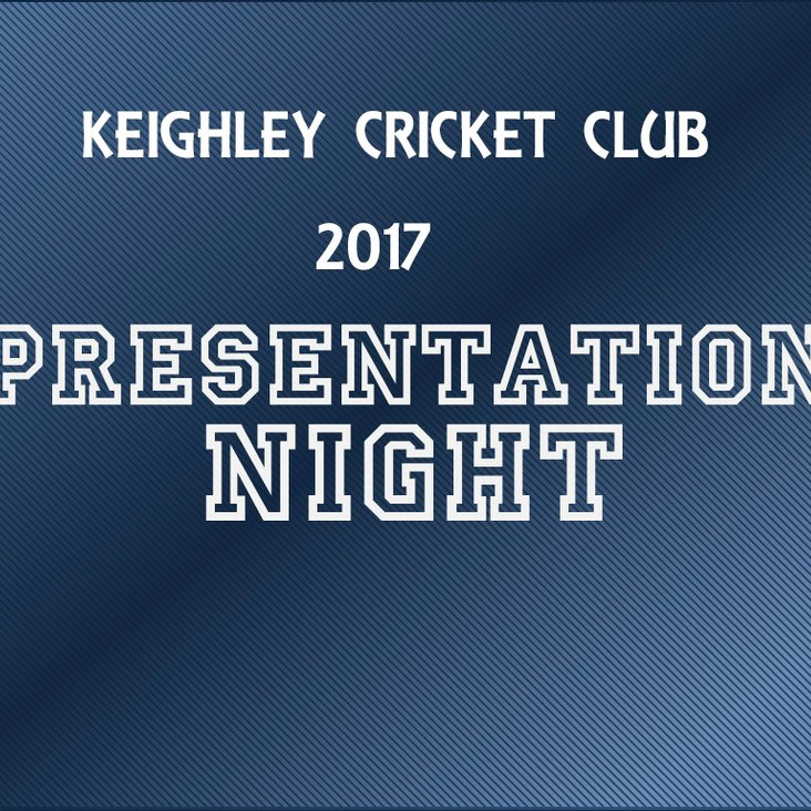 Places still available for Keighley Cricket Club Presentation Evening<