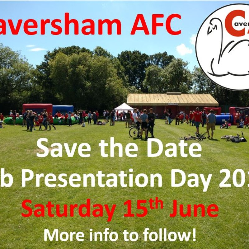 Date announced for Club Presentation Day