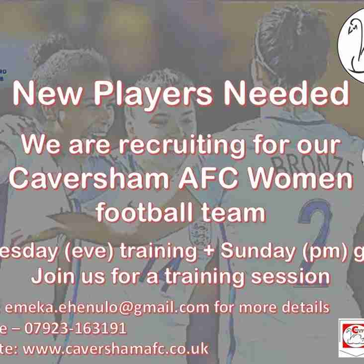 Caversham AFC Women - looking for new players