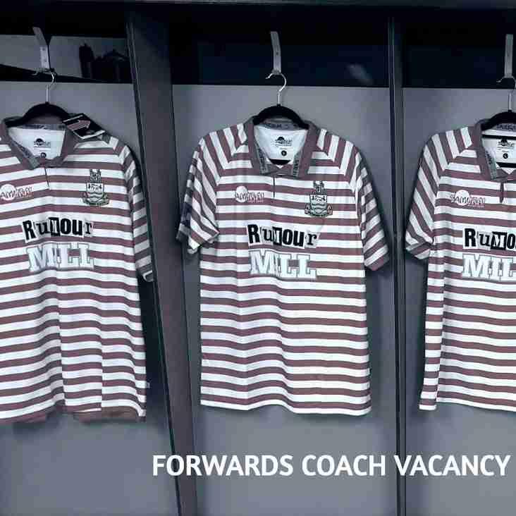 Forwards Coach Vacancy - 2019/20