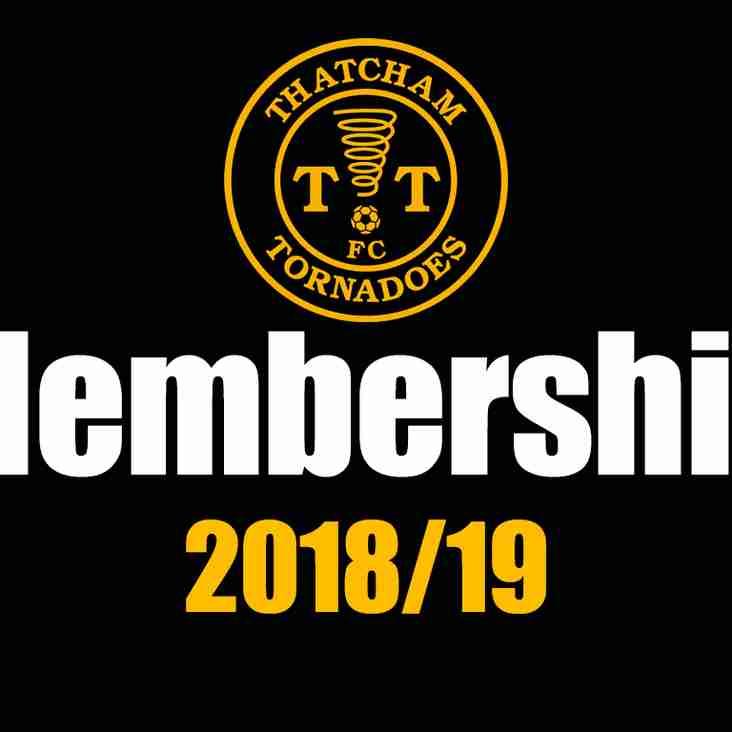 2018/2019 CLUB MEMBERSHIP