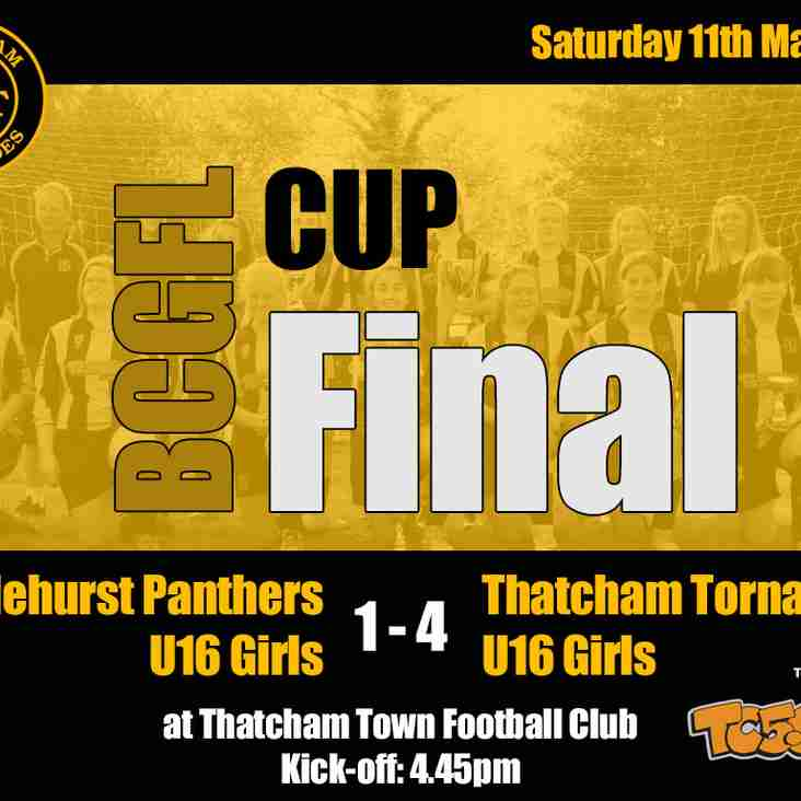 Thatcham Tornadoes U16 Girls claim hat-trick of League/Cup Doubles!