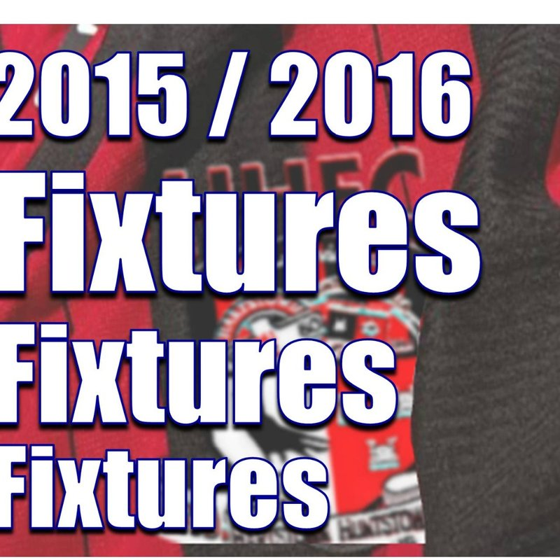 Fixtures / Results List For Sat 14th to Thurs 19th May 2016
