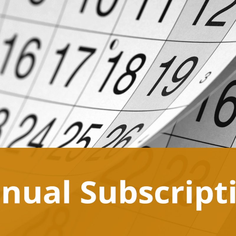 2019 subscription fees are now due