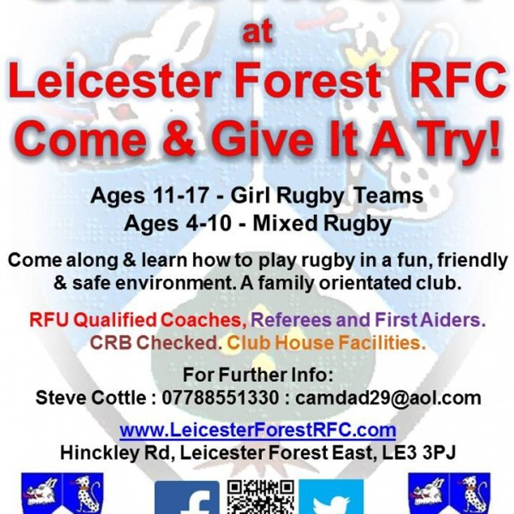 Girls Rugby at Leicester Forest<