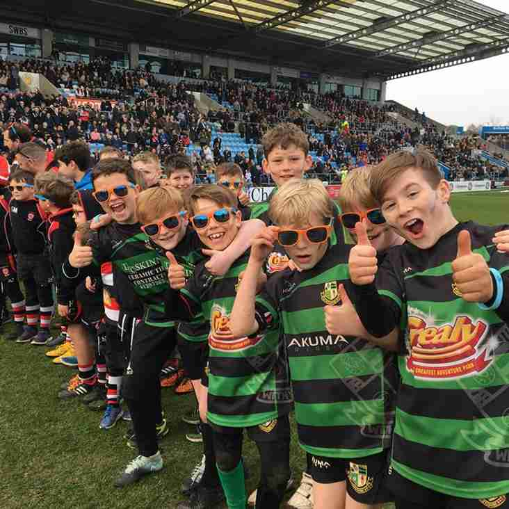 Under 10s Enjoy a Day Out at Sandy Park