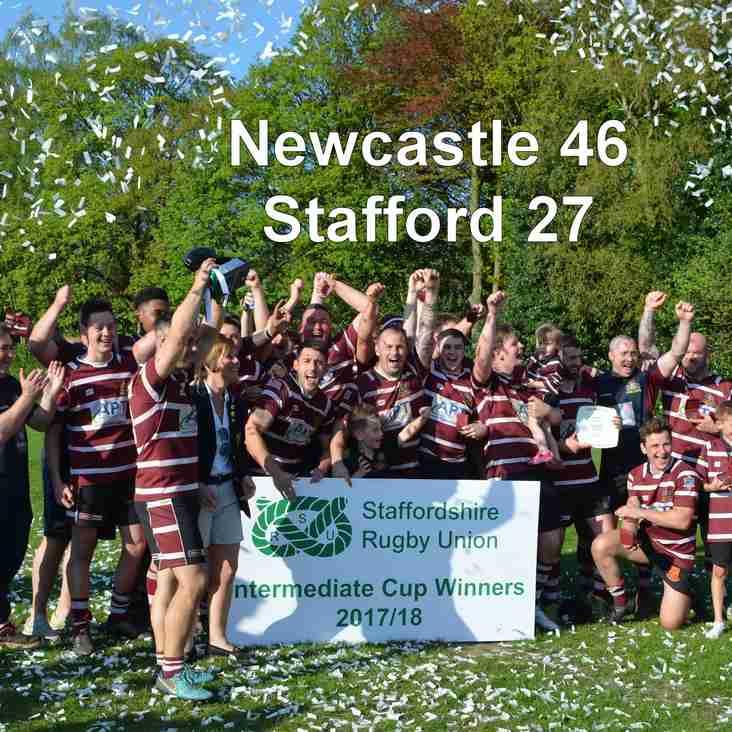 Newcastle 1st XV win Staffordshire Intermediate Cup Final 2018