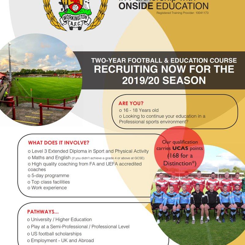 Open Evening - RITC Education Programme 2019/20 Season