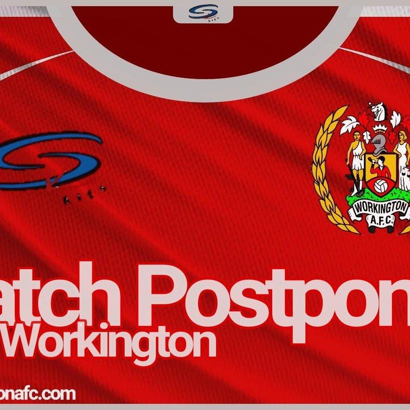Reserves match postponed