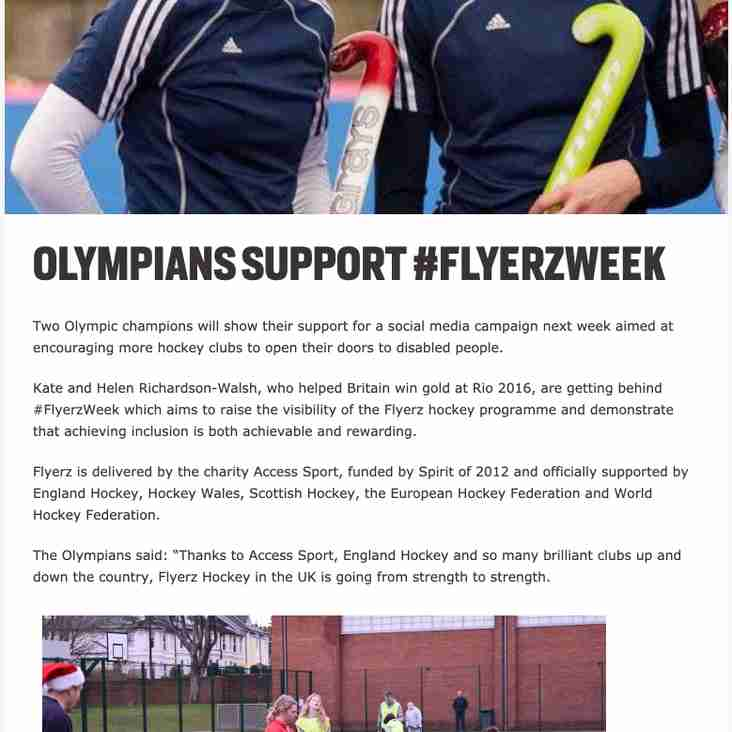 TW Flyerz are in the News with Kate & Helen Richardson Walsh