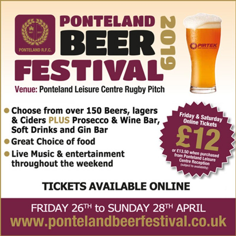 Book your tickets now for the Ponteland Beer Festival