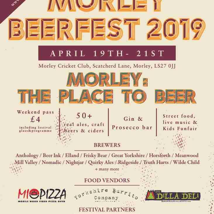 2019 Beer Festival just 4 weeks away......
