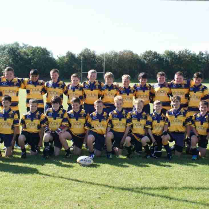 U15s face Ashby in Leicestershire RFU Plate Final, Sunday March 8th 2015