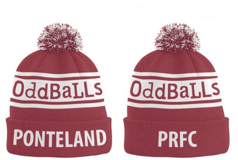 31ef59e67fc Ponteland RFC Oddballs Bobble Hats. ↧ Show more ↥ Show less