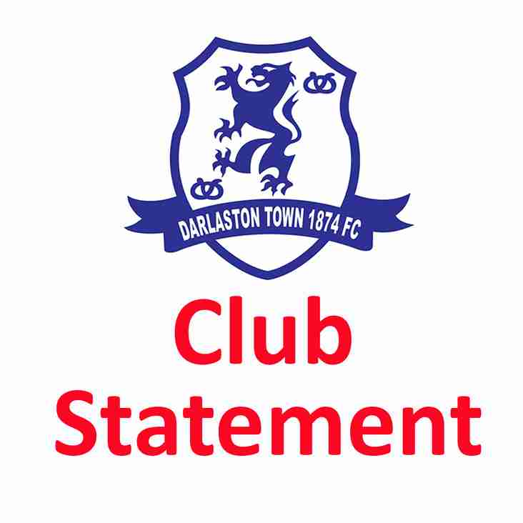 Offical Club Statement Confirming Darlaston's Promotion