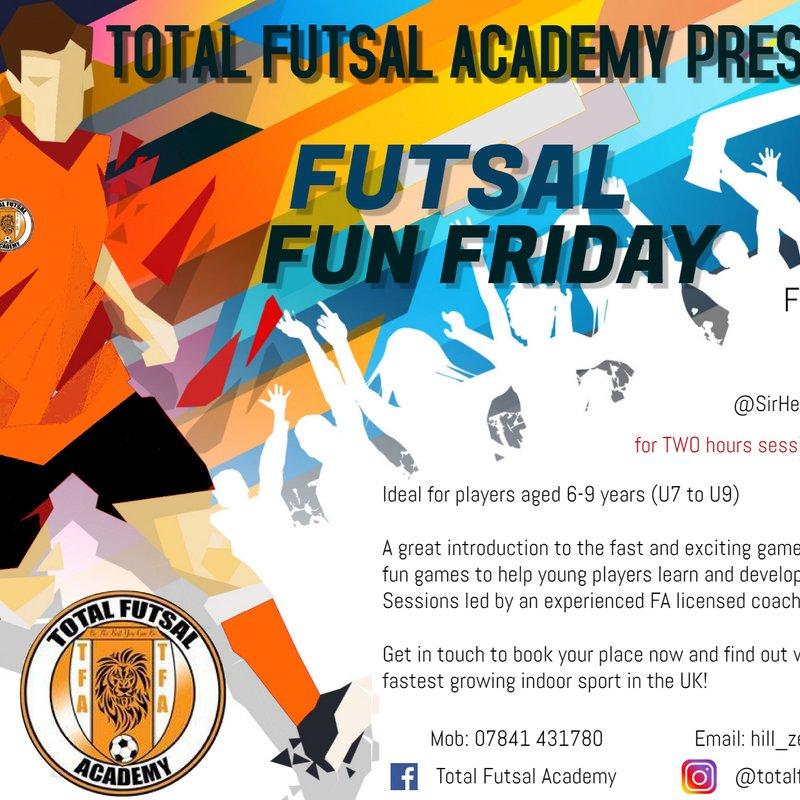 Half Term - Futsal Friday at Leon Academy !!!! ⚽️⚽️⚽️